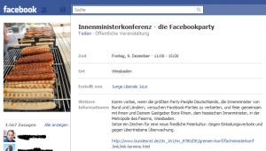 """Die Antwort der Netzgemeinde: """"Facebook-Party Innenministerkonferenz"""""""
