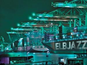 Containerhafen. Foto: ELBJAZZ