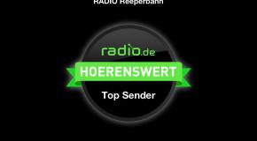 Ausgezeichnet: Top-Sender bei radio.de